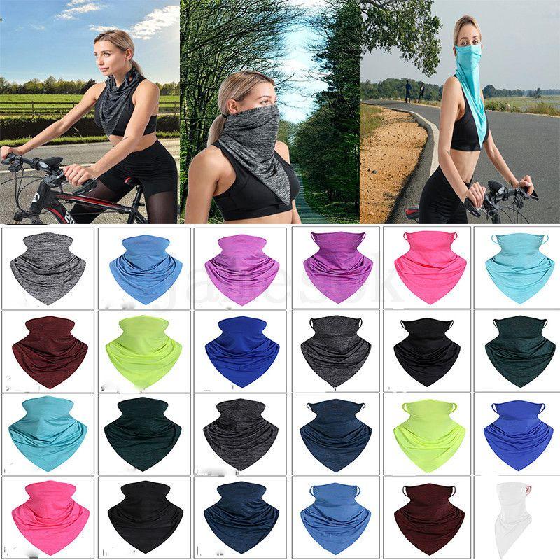 Sciarpa escursionistica Portable Magic Sciarpe Triangolo Estate Sole Proteggi Assorbire Sweat Turban Bandanas Antivento Aperto Aperto Cycling Fascia da ciclismo DA460
