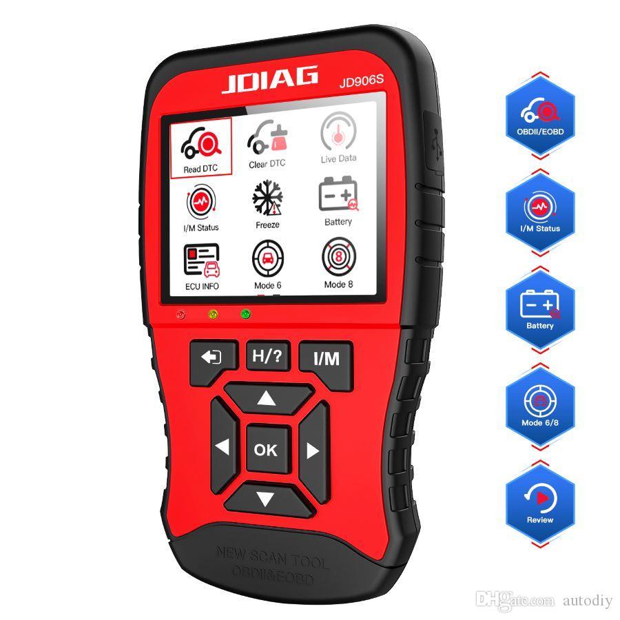 Get Engine Code Christmas 2020 2020 JDIAG JD906S OBD2 Scanner EOBD Enhanced Engine Fault Code