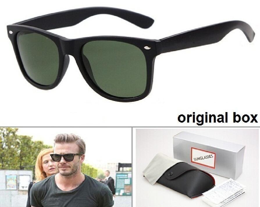 Hochwertige Marken-Designer-Mode-Mann-Sonnenbrille UV400 Schutz im Freien Sport-Weinlese-Frauen-Sonnenbrille Retro Brillen mit Kasten und Koffern