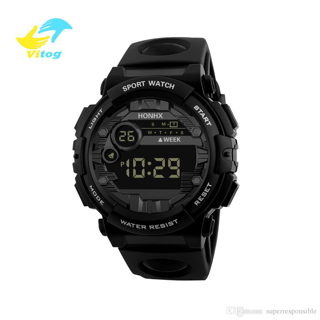 Vitog 66f Women Mens Digital LED Watch Date Sport Men Outdoor Electronic Watch Casual Sport LED Wrist Watches relogio digital