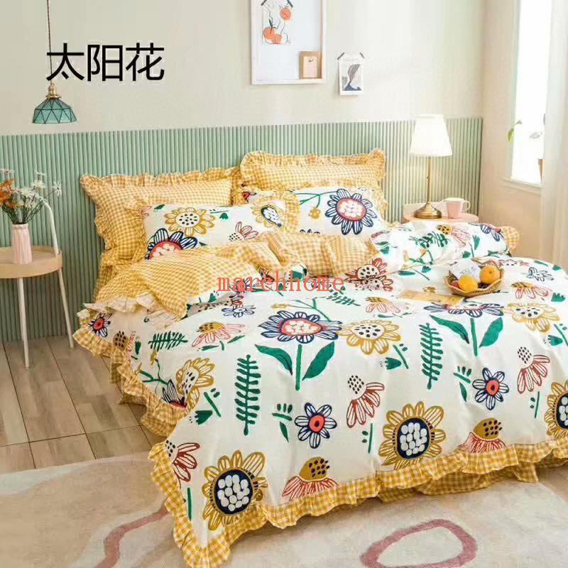 2020 de haute qualité nouvelle tendance de lit en coton Set de mode Petit frais doux mignon Quilt Impression de Four Seasons Style Princesse Beddi