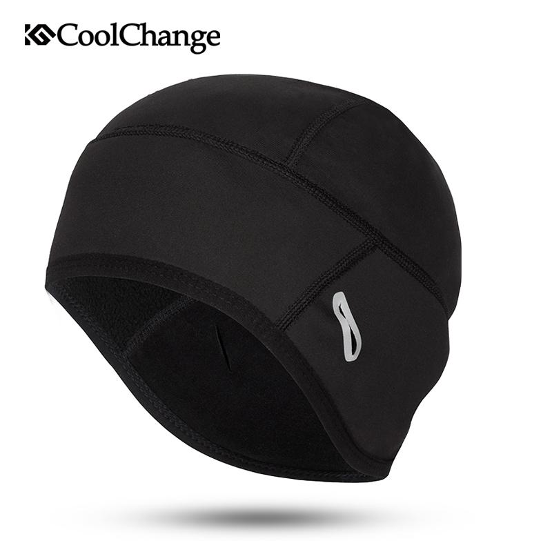 CoolChange Cycling Cap Winter Warm Outdoor Sports Bicycle Cap Windproof Thermal Fleece Men Women Running Skiing Bike Caps