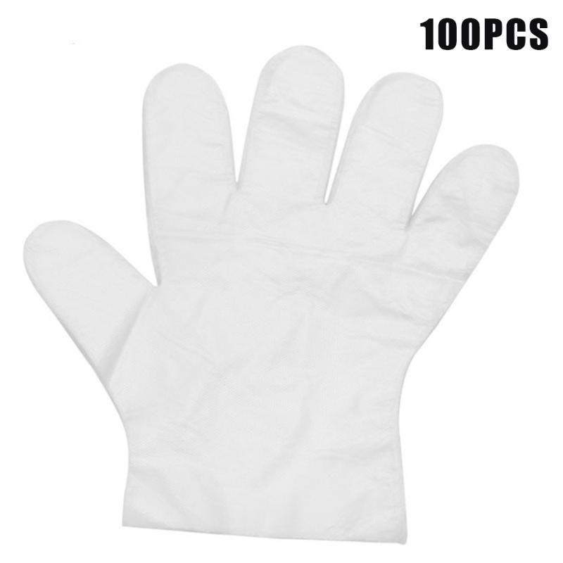 Guanti guanto monouso Mens 100pcs Grade Ristorante Cancella PE monouso Prep guanti per uso domestico industriale Utili