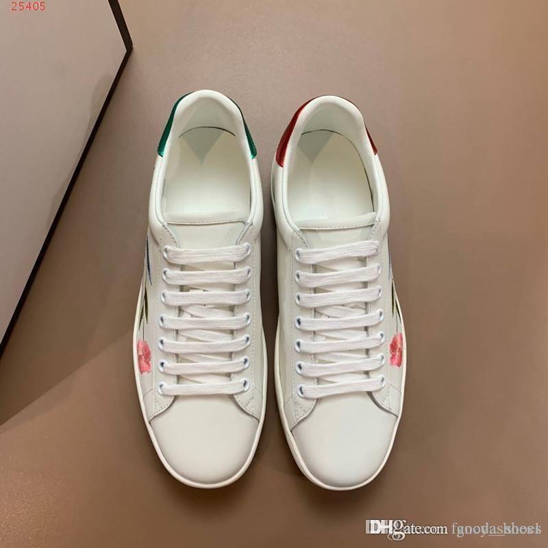 Дизайнерская обувь Бренд White Leather Fashion с принтом Повседневная обувь Мужчины Удобные плоские кроссовки Удобные и стильные Размеры 38-45
