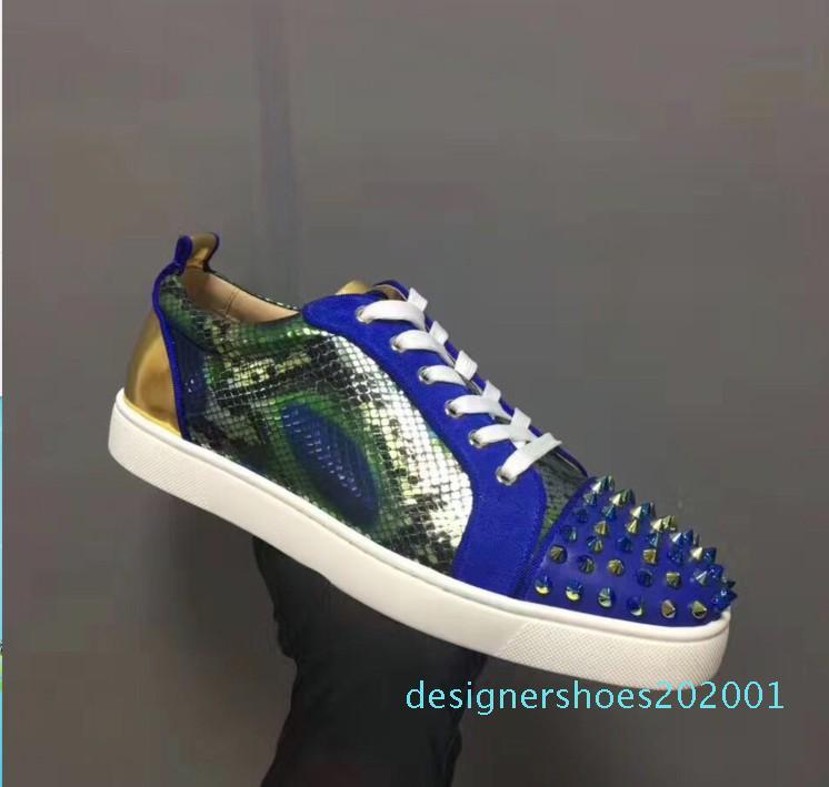 Caliente Sael-2018 Diseñador fondo rojo zapatillas Spikes plana Terciopelo gamuza zapatillas de hierro gris hombres capacitadores 100% de cuero real de los zapatos del partido d01