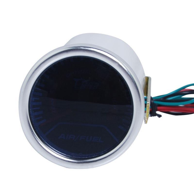 Bygd 12V 2 '' 52mm de combustible de aire del coche automático Indicador de Relación Motor Racing AFR monitor del metro LED blanco rojo puntero 12V Humo de Pez Universal