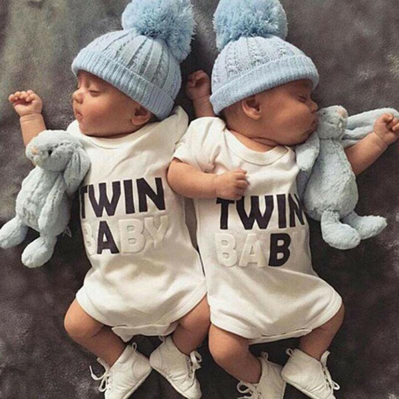 Yenidoğan Bebek Bebek Boys Kız bodysuit İkiz Romper Tulumlar Kıyafetler Giyim