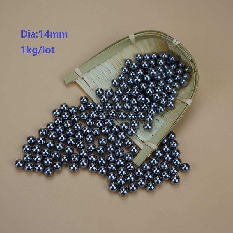1kg/lot (about 89pcs) steel ball Dia 14mm high-carbon steel balls bearing precision G100 Diameter 14mm