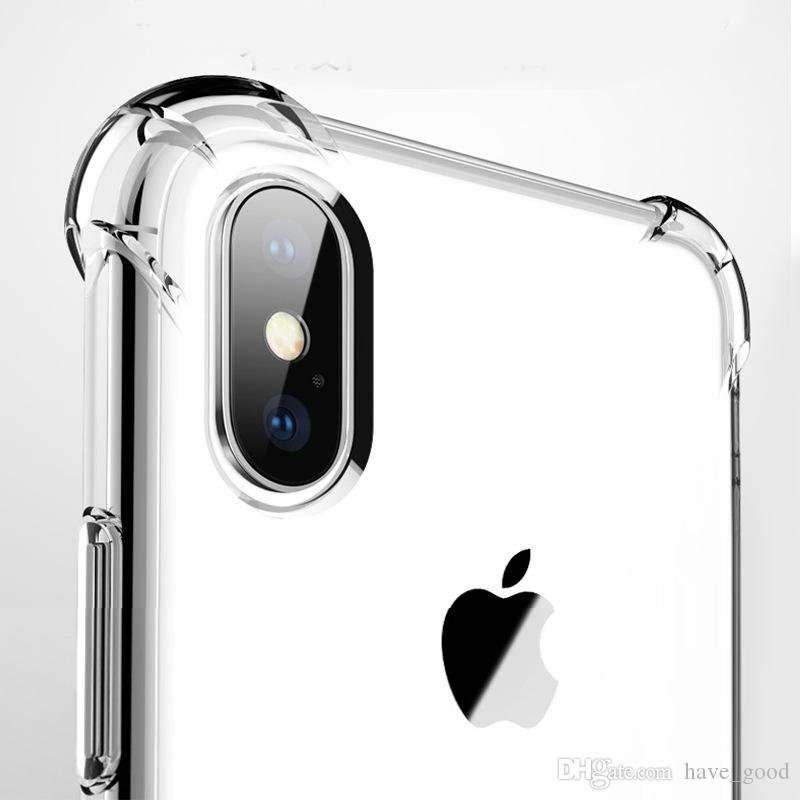 Clear Ultra thin Transparent Tpu Silicone Case For iPhone XS 7 8 plus Protect Rubber Phone Case For iPhone X
