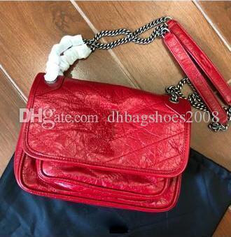 le style plissés petits sacs crossbody pour les femmes 22cm 28cm réelle de totes épaule de la chaîne en cuir de qualité supérieure concepteur Sac pour dames