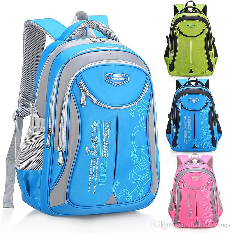 2018 hot new children school bags for teenagers boys girls big capacity school backpack waterproof satchel kids book bag mochila #43182
