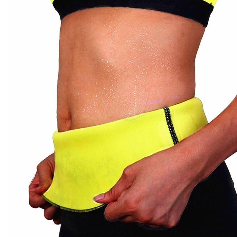 Entrenador de la cintura de las mujeres que adelgaza NINGMI chándal quema de grasa caliente SPA Sportes entrenamiento sudor térmica Sauna neopreno cuerpo de la correa Fajas