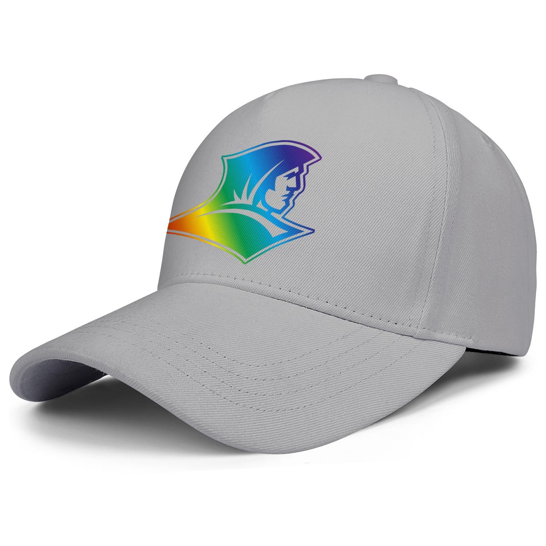 Moda Providencia Frailes logotipo de baloncesto orgullo unisex gorra de béisbol equipo de golf Trucke sombreros Gay arco iris Core humo blanco wordmark de oro