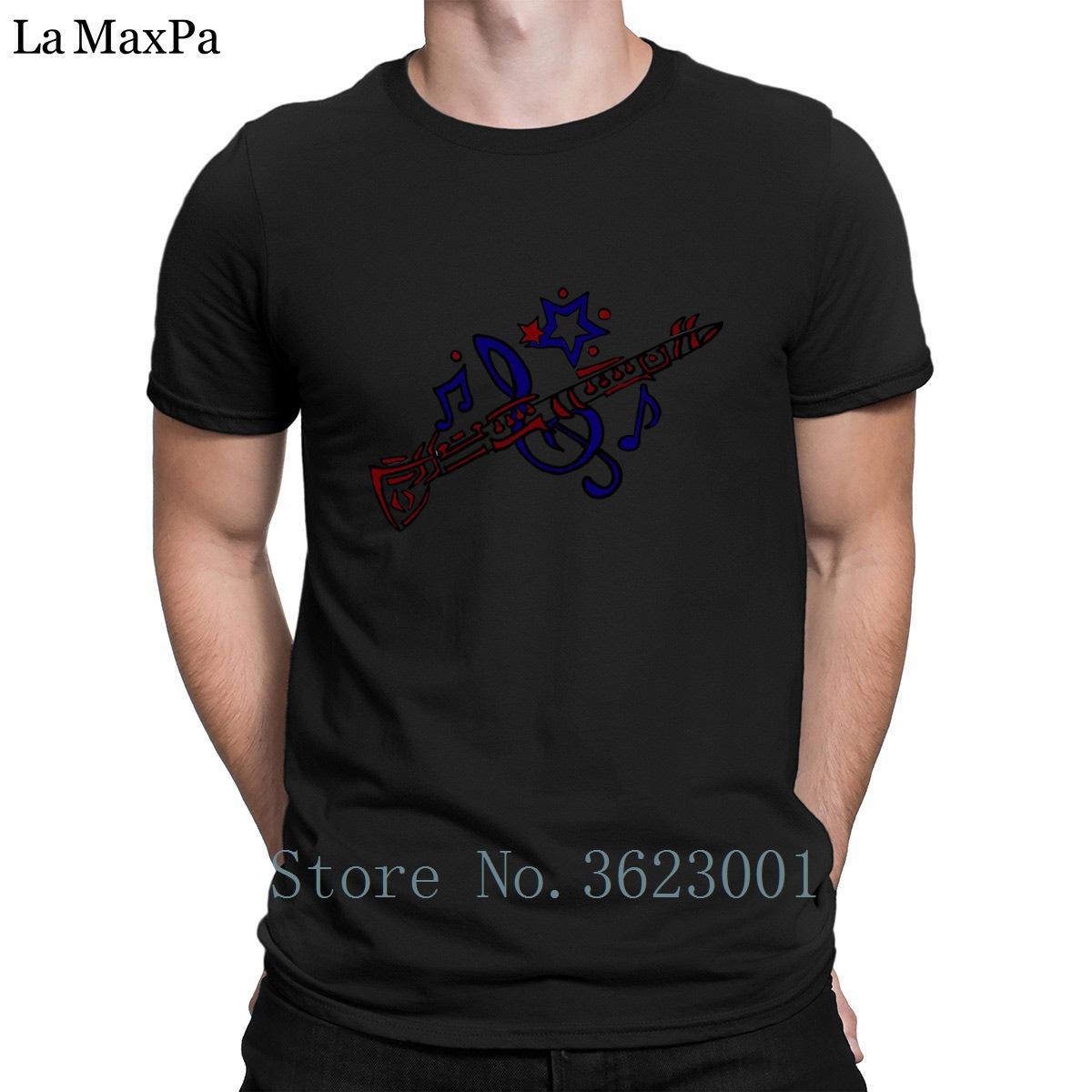 Designer Dernières T-shirt frais Clarinet Art musical original T-shirt pour les hommes à manches courtes Hilarant Vêtements T-shirt cool Top Tee