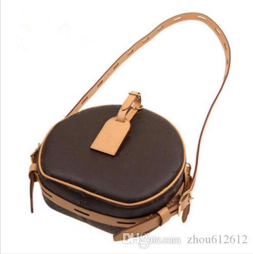 Canvascalfskin Leder Rundschultertasche Neueste Luxus Satteltasche Elegante und reizend Vintage Damendesignertasche weiche Handtasche Portemonnaies