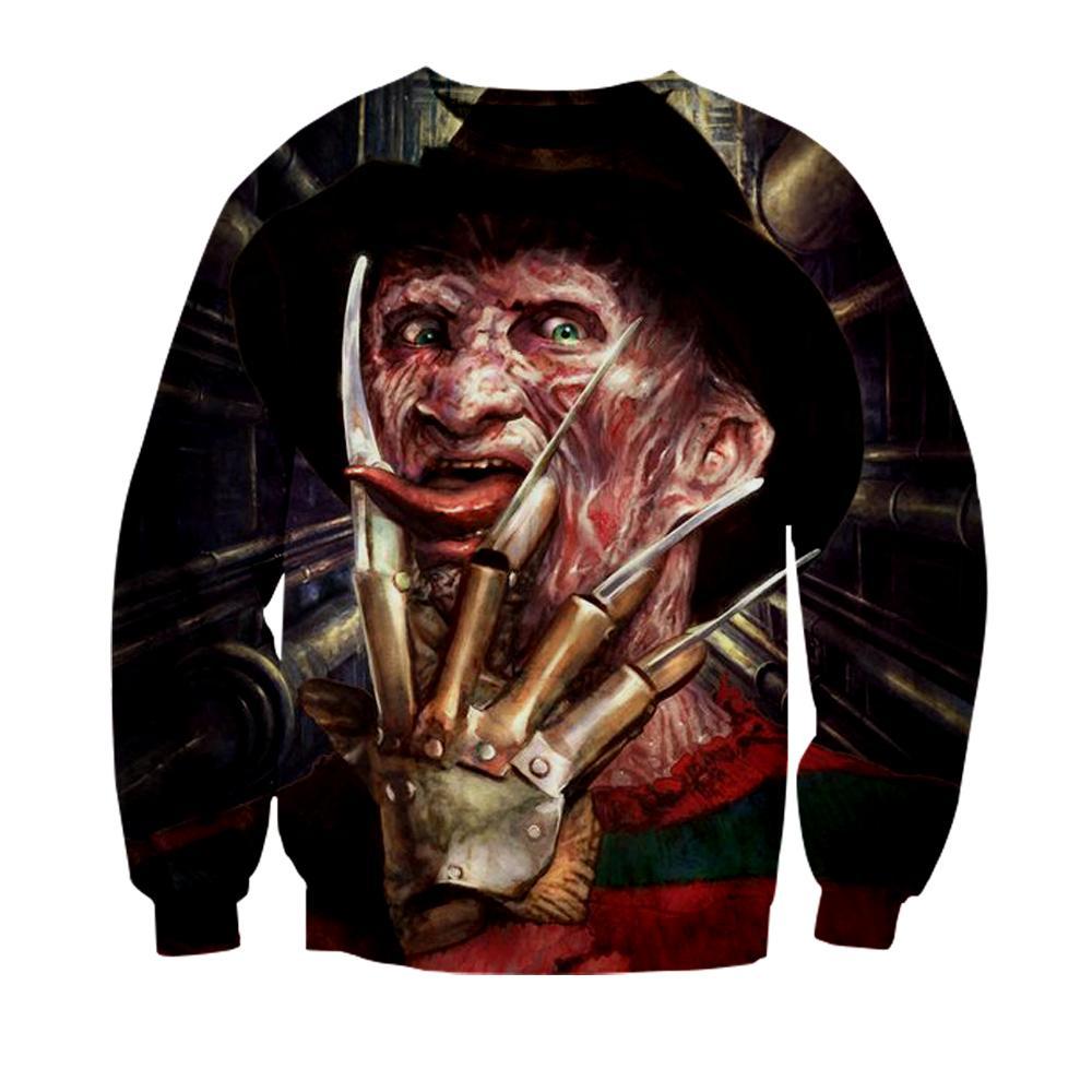 2019 New men sweatshirt hip hop hoodie anime sweatshirts 3D print Unisex custom made clothes teens spring tops terror