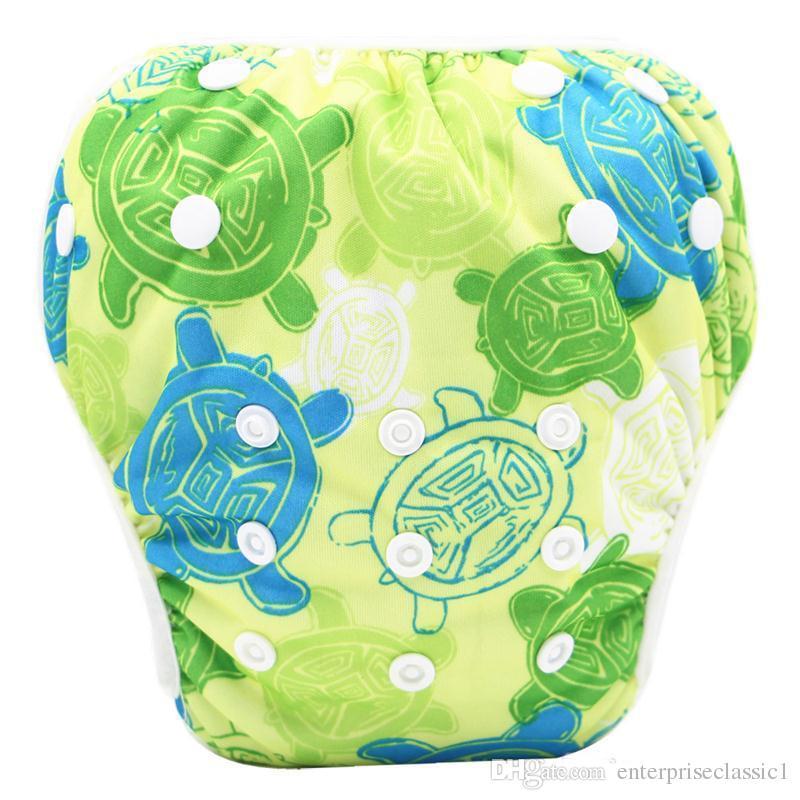 Bebek yüzmek bezi taşınabilir sağlıklı yenidoğan sızdırmaz adujustable bezi kullanımlık bebek nappy ücretsiz boyut 40 renkler