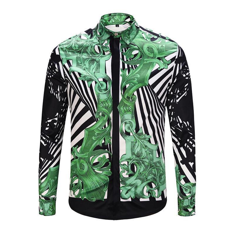 Le nouveau best-seller des hommes de la série décontractée combinaison de chemise de luxe de la personnalité de la mode rétro de la chemise de la mode masculine Polo shirt M - 2XL