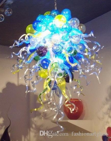 Современное искусство Декор Цветок стекло Люстра Спальня Декор муранского стекла Подвеска Лампы ручной выдувное стекло Декоративные светодиодные