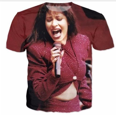 Mais recente Moda Mens / Womans Selena T-Shirt Estilo Verão Engraçado 3D Impressão Casual T-Shirt Tops Plus Size AA231