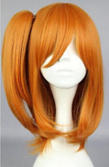 무료 배송 + + Kousaka Honoka Orange 짧은 코스 프레 가발