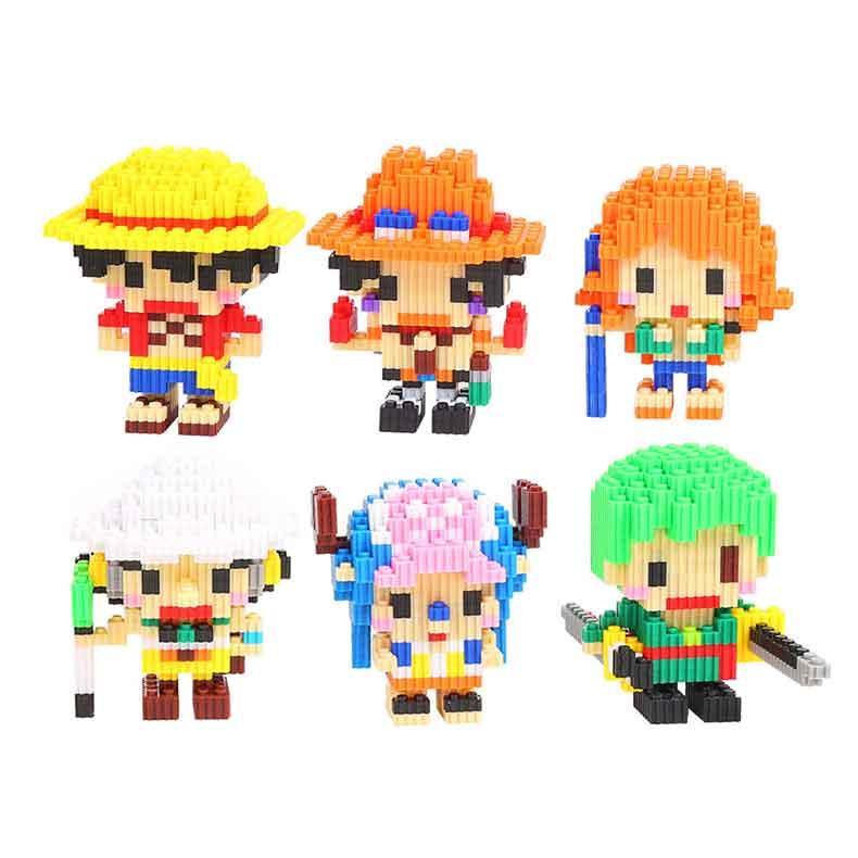 6-piece set Desktop Decoration Adult Decompression Toys designer Gifts Inserting Block kids Toys Gifts Compatible Building Blocks Pirate