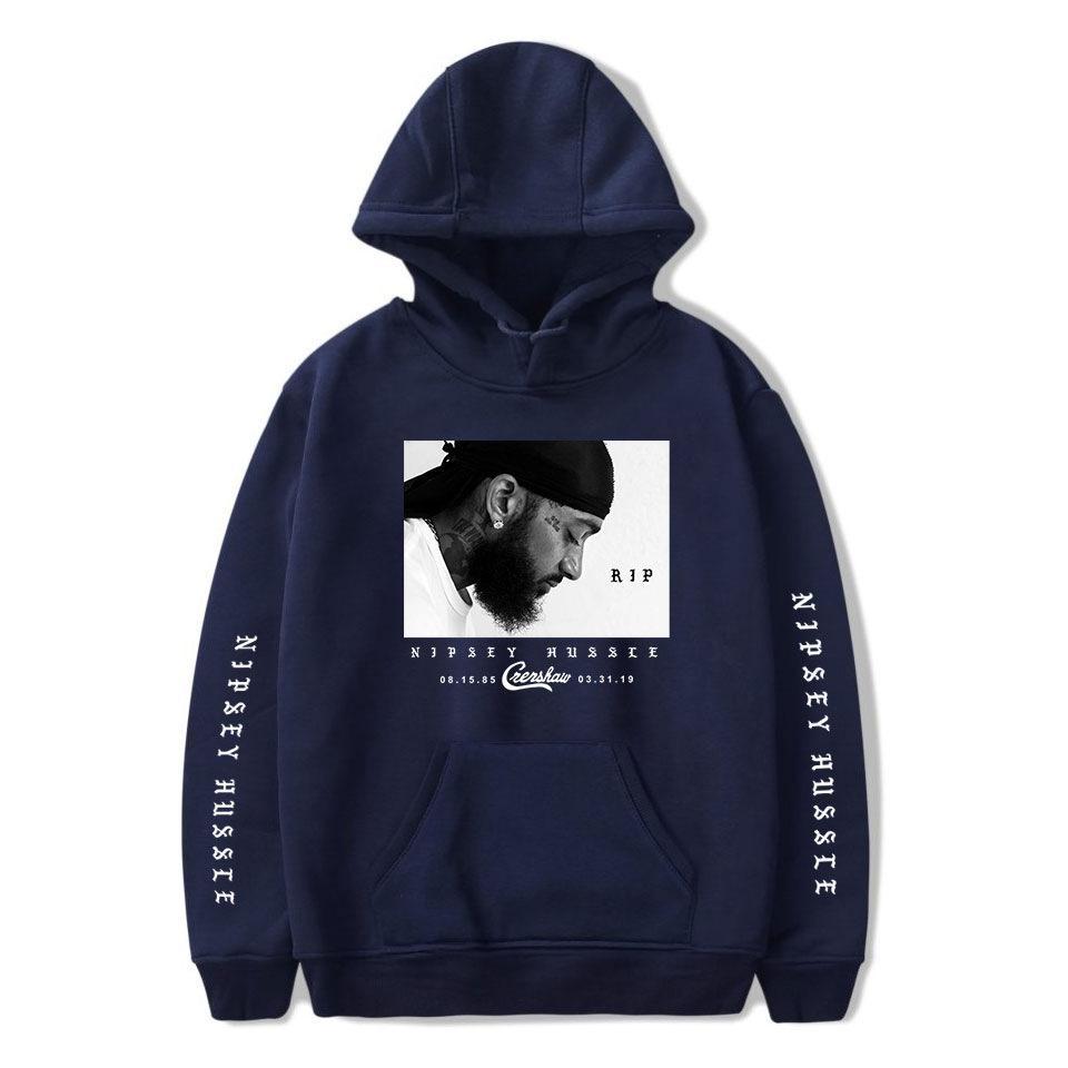 Mens 3D-gedruckten Buchstaben Hoodies Nipsey Hussle Souvenir amerikanische Rapper Hoodies Designer Sweatshirts