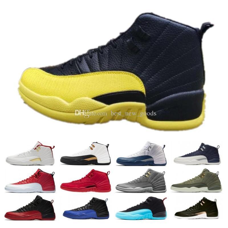 2019 inverse Taxi Royal Game 12 Hommes Chaussures de basket-12s Fiba chaussures Bumblebee GS CNY Michigan Gym rouge rétro entraîneurs des hommes Sneakers Designer
