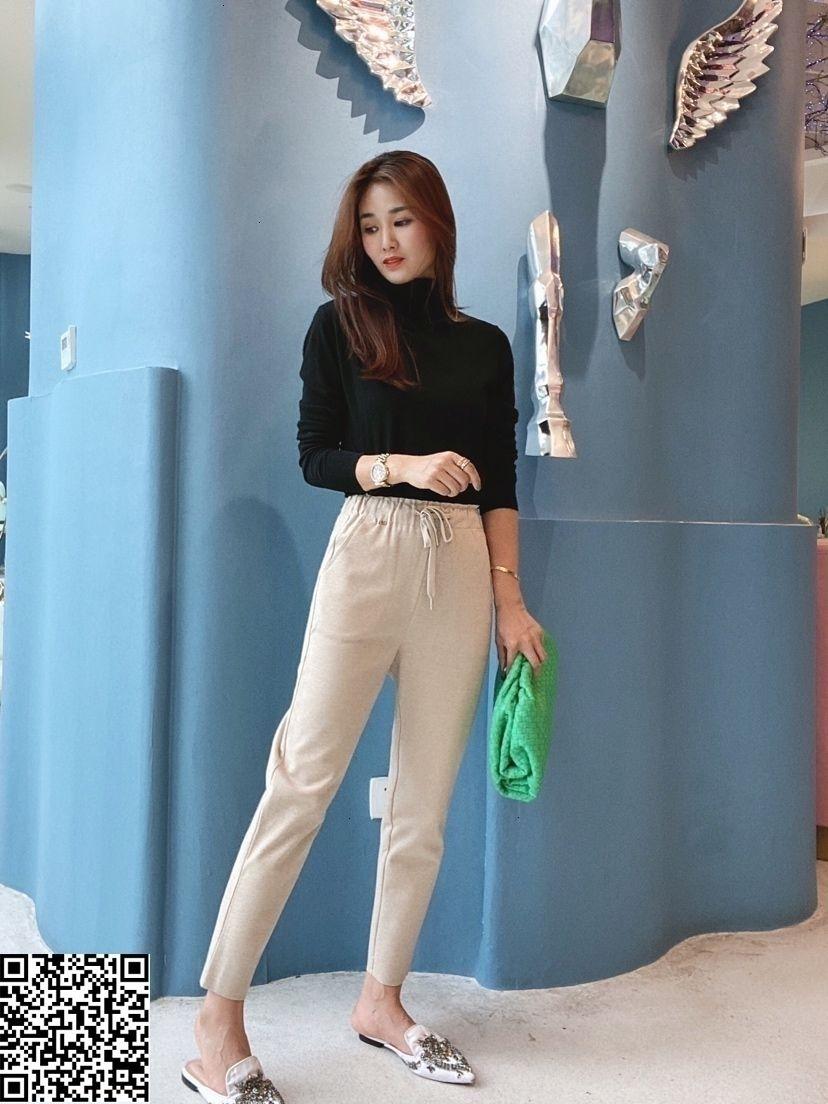2019 новый бренд женской одежды йоги штаны кожаные брюки Slim Fit свободной перевозкы груза новый стиль Классический стиль XXKU-106