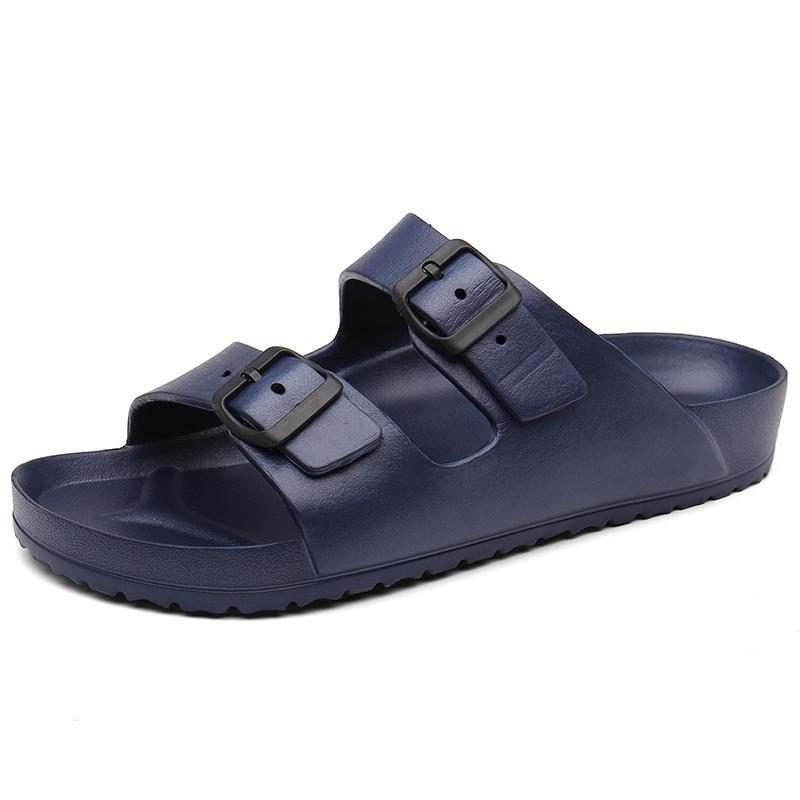 Verano playa de los deslizadores mujer de los zapatos de la hebilla diapositivas mulas tirón ocasional de los fracasos de Parejas zapatos al aire libre sandalias Mar Zuecos Zapatos De Mujer