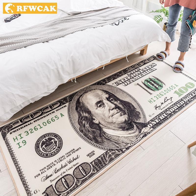 Rfwcak Creative США доллар 3D ковер для гостиной зона для гостиной коврик коврик для пола прихожая прихожая шкала детская спальня коврик украшения дома Y200527