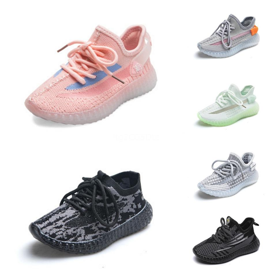 Box 2020 New Kids V2 3M Reflective Static Running Shoes Kanye West Fashion Sport Athletics Sneakers Size 27-35 #734