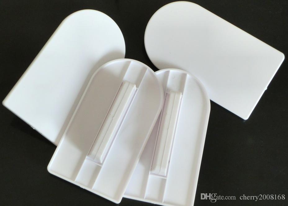 50ピースプラスチックフォンダンケーキクリームスムーズなポリッシャーツールケーキパンナーフードグレードケーキスパイラストレートナーベーキングツール