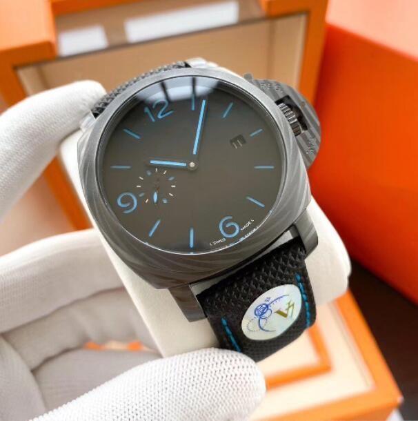 Gli uomini osservano il movimento automatico della cinturino in pelle da uomo impermeabile orologi da polso 316L orologio da polso da orologio da polso da uomo 44mm orologi V7