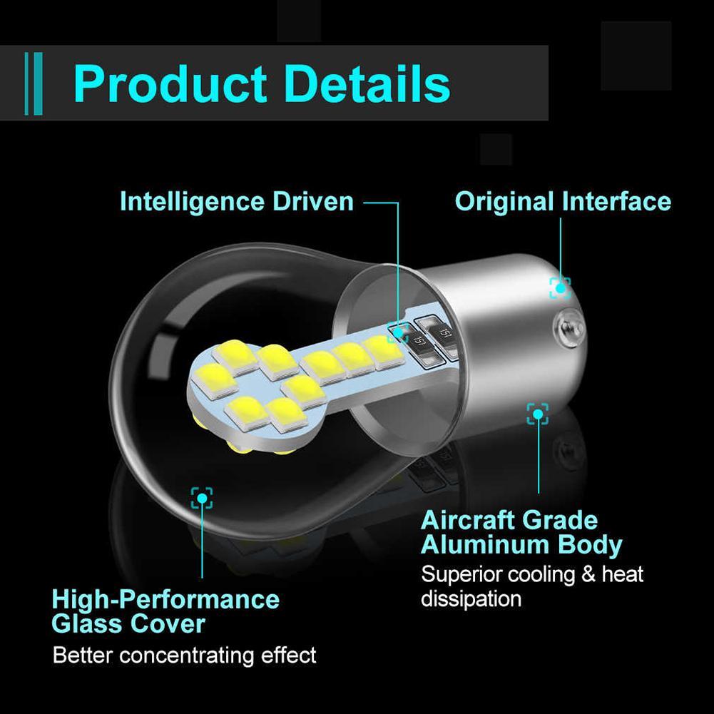 Araç Aksesuarları LED Ampul Yüksek Parlaklık SMD 3030 Cips 1156 / BA15S 1157 / BAY15d LED Yedek Ampul