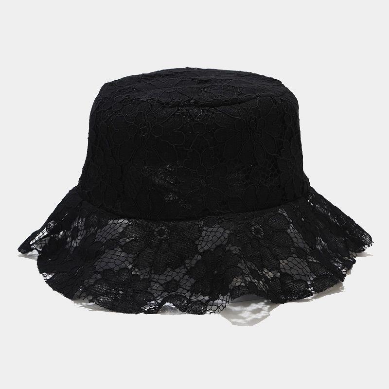 LDSLYJR сплошной цвет раза кружева Bucket Hat Рыбак Hat на открытом воздухе путешествия Sun Cap шляпы для мужчин и женщин 185