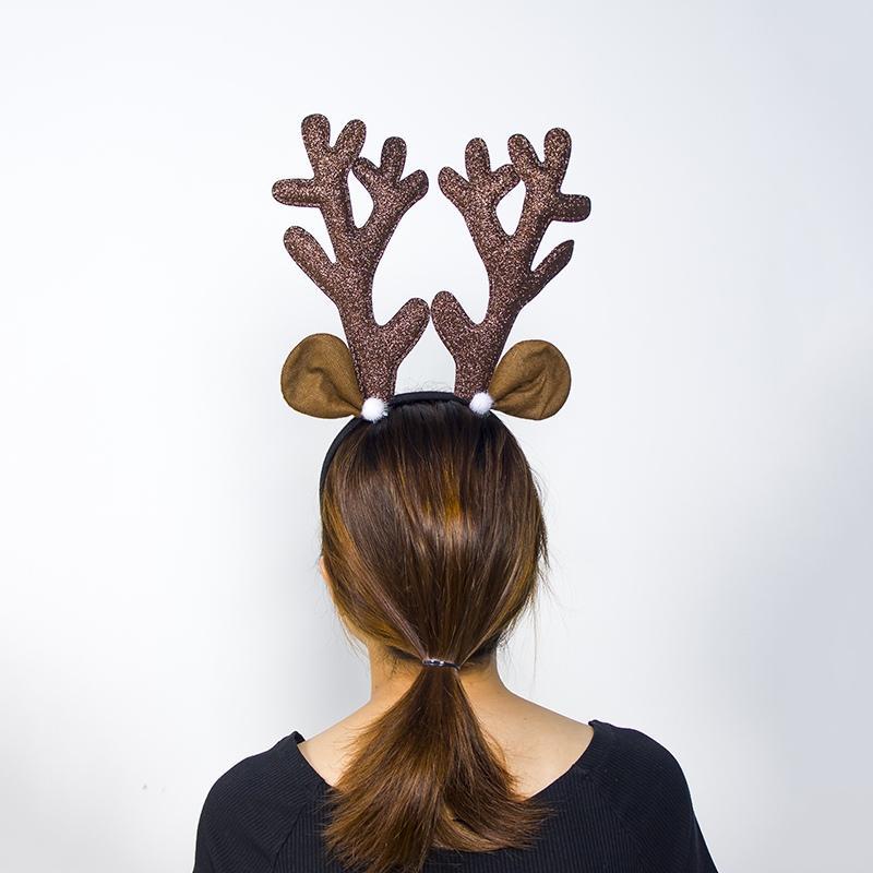 Elch-Geweih-Stirnband Hirschhorn-Haar-Band für Kinder Erwachsene Haarschmuck-Geburtstags-Party Navidad Halloween Weihnachten