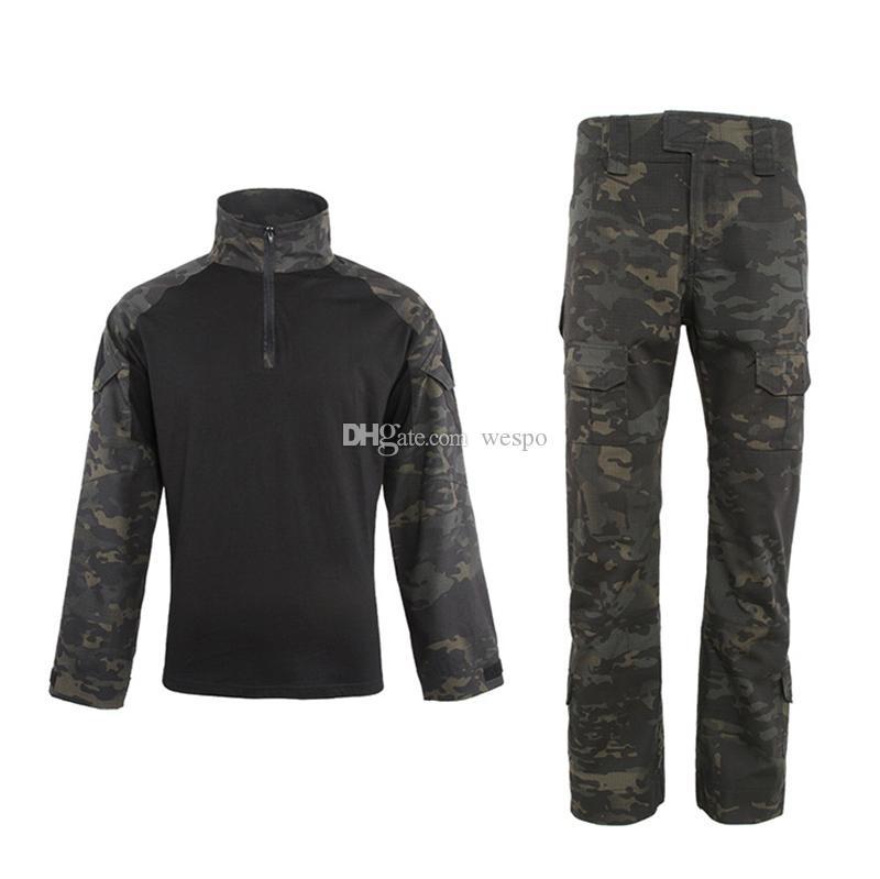Terno tático Sapo Cotton camuflagem Army Tactical Combate roupas uniforme com camisa e calça de Esportes diárias ao ar livre