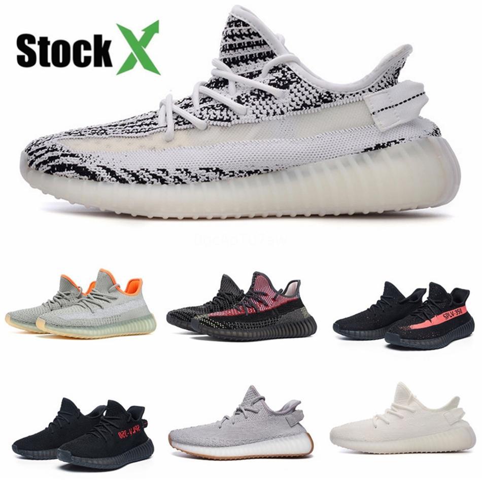 Светоотражающие Wave Runner Kanye West V2 Solid Gray Статический магнит Teal Carbon Синий подножка обувь Дизайнерская обувь Статическая кроссовки # DSS584