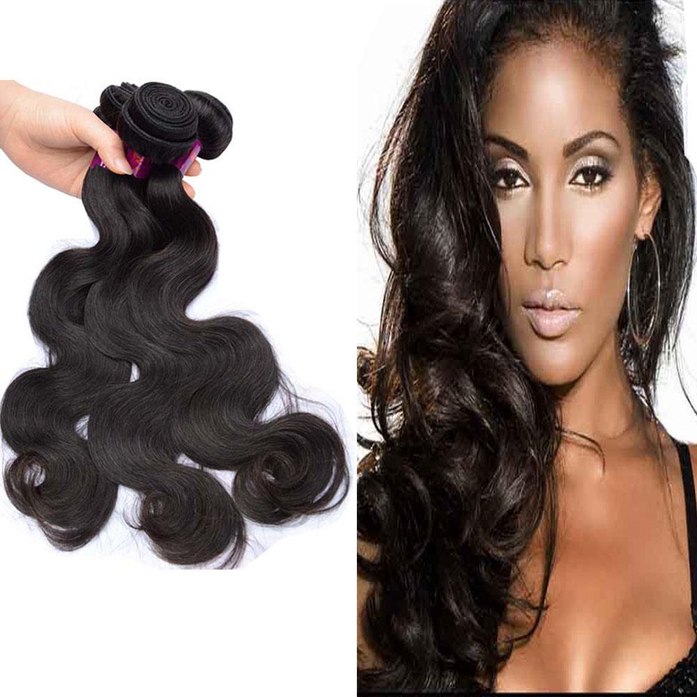 Brazilian Virgin Human Hair Peruvian Body Wave Mix Length 3 Bundles 9A Malaysian Indian Raw Hair Weave Free Drop Shipping Natural Color