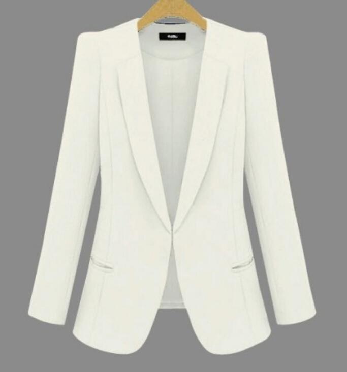 2019 Nouveau Taille Plus Femmes d'affaires Costumes Printemps Automne Toutes les femmes-match Blazers Vestes courtes Slim manches longues Blazer femmes Costume T200319