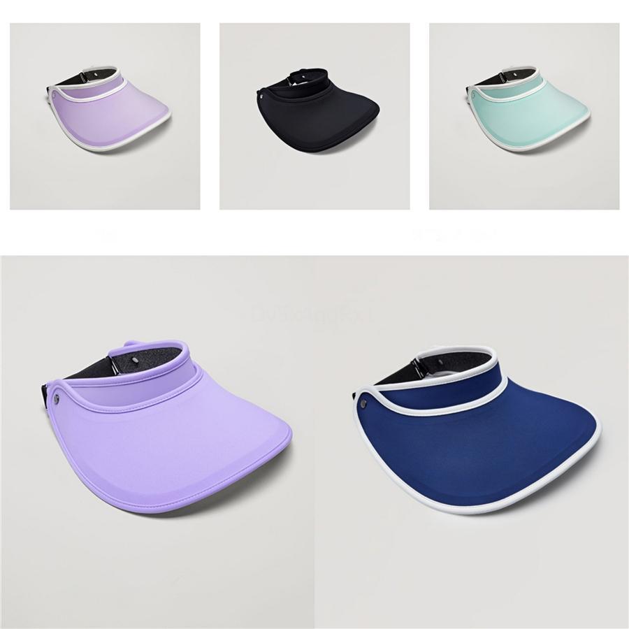 6 Farben Sonnenblende Hut Stirnband Caps Unisex UV-Schutz Transparent Für Golf Wandern Fahrt 1Pc Beach Party-Hut-Kappen # 224
