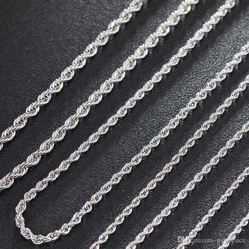 3mm Men's Stainless Steel Thick Golden Link Chain Necklace for Men Gift Boyfriend Dad Husband with 18-24Inch
