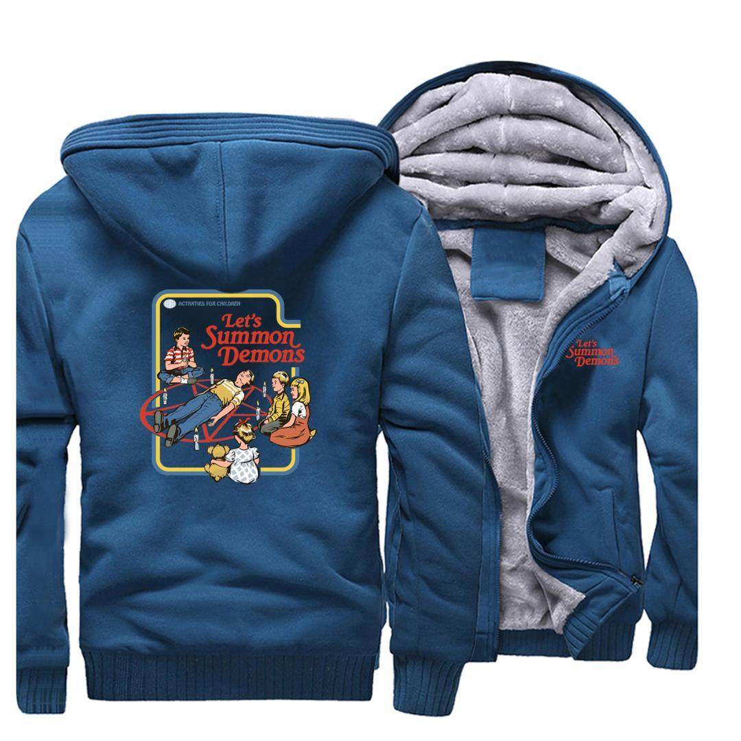 Mens Jackets,Mens Winter Thicken Fleece Hoodie Sweatshirt Jacket