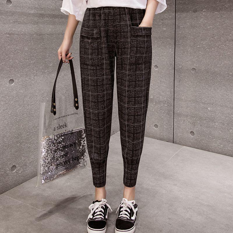 DONAMOL Plus Size Casual Mulheres calças listra lateral dos retalhos com cordão elástico-cintura solta Sweatpants femininas de inverno calças quentes