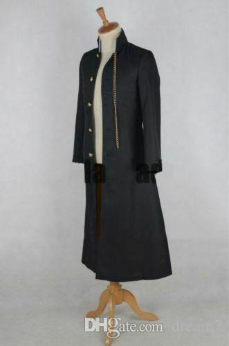 JoJo/'s Bizarre Adventure Jotaro Kujo Jacket Trench Coat Cosplay Costume Custom