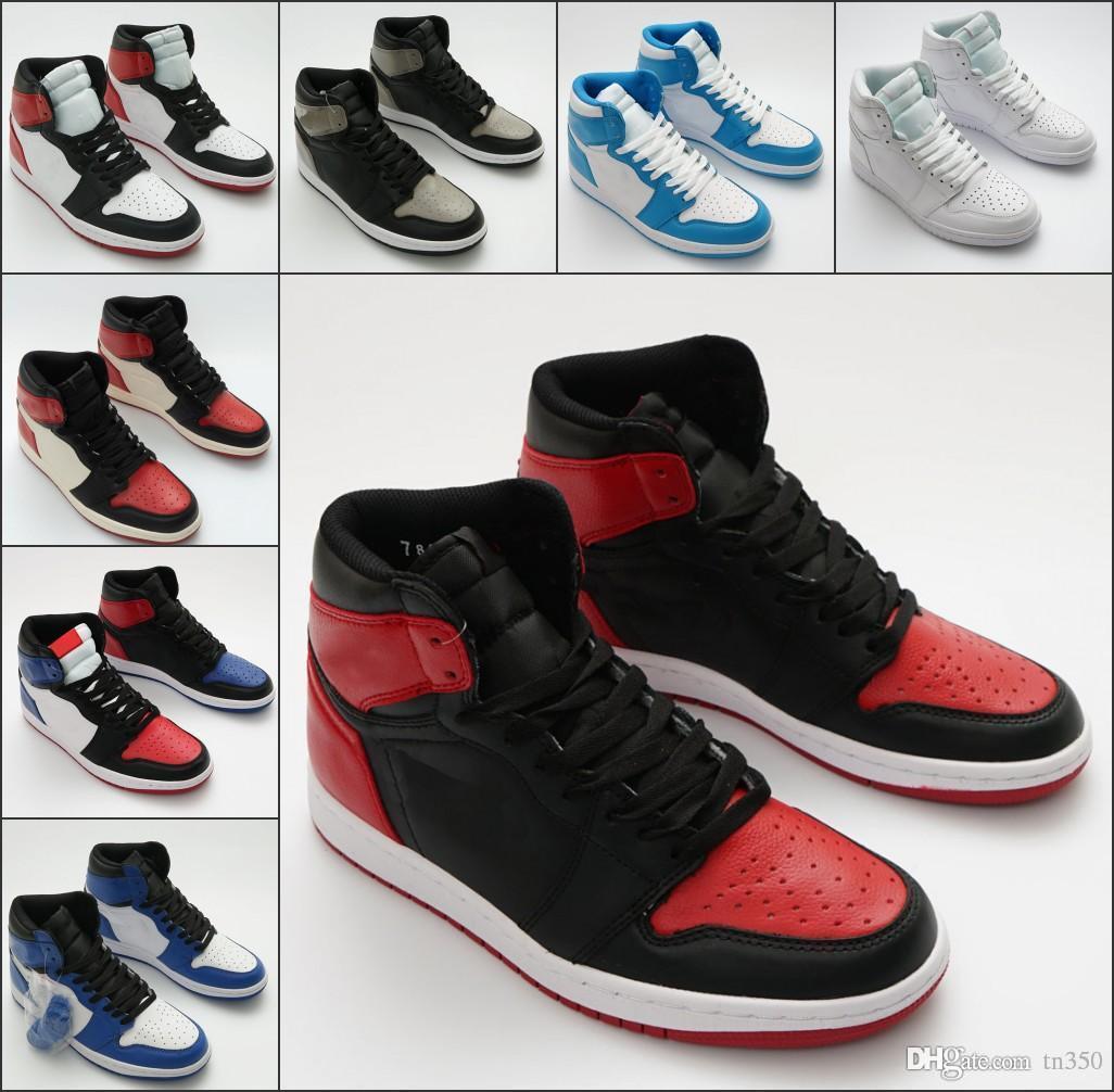 Novos 1 1s High Top 3 quebrado OG Toe Bred Banido jogo real calça as sapatilhas Sombra de alta qualidade Homens 1s com caixa