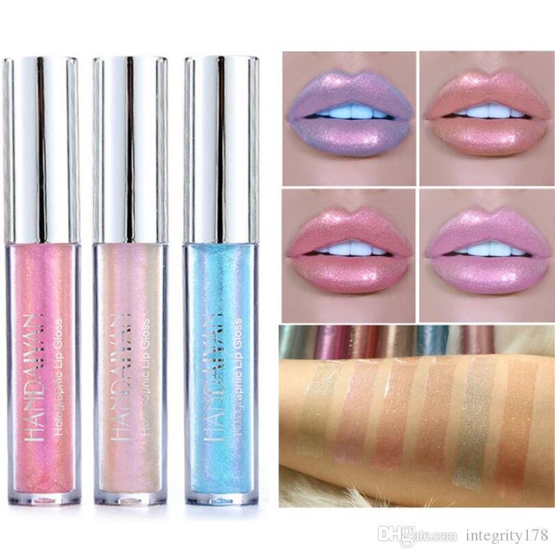 HANDAIYAN Party Polarized Light Sexy Colorful Lipstick Lip Gloss Pigment Liquid Lipstick Fashion Makeup lips Cosmetic Beauty
