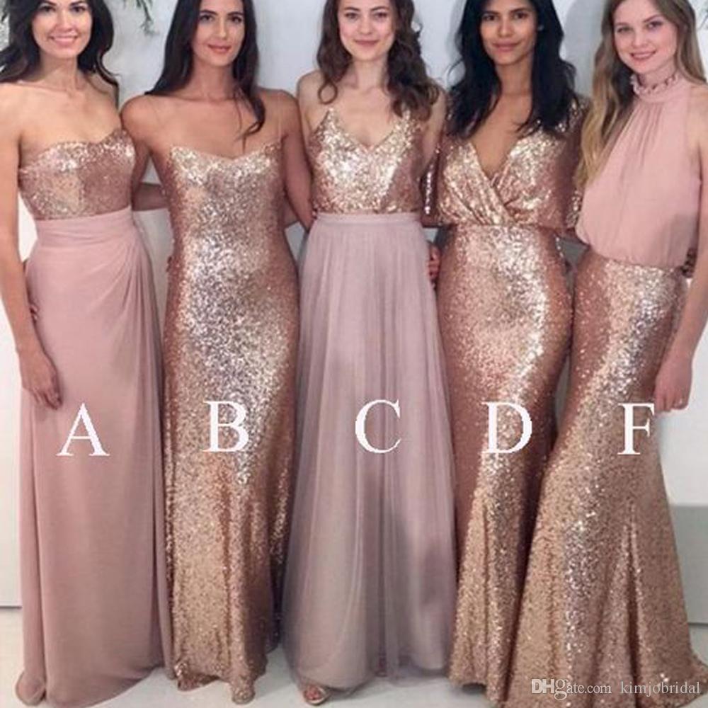 Gold Bridesmaid Dresses Elegant