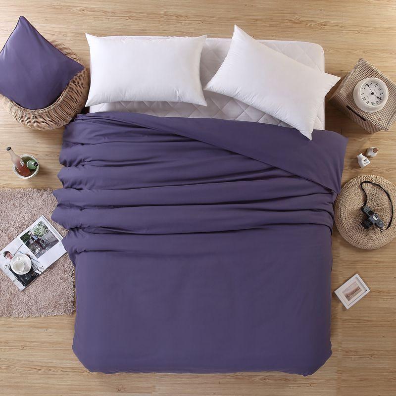 Ev tekstili tek nevresim dolum yok Mikrofiber katı zımpara yatak yorgan kapağı 150 * 200, 180 * 220 cm, 200 * 230 cm, 220 * 240 cm